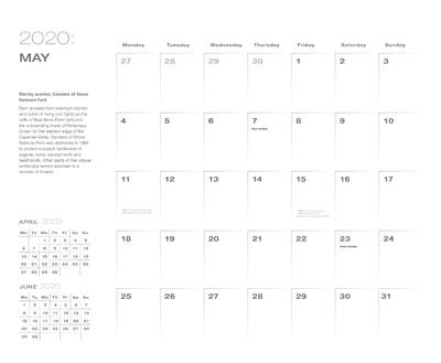 2020 BM calendar date page