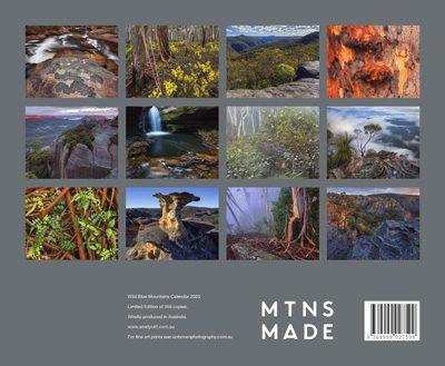 2020 BM calendar rear cover